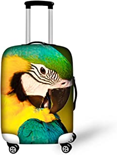 Baggage Covers Red Yellow Brown Cute Bird Pattern Washable Protective Case