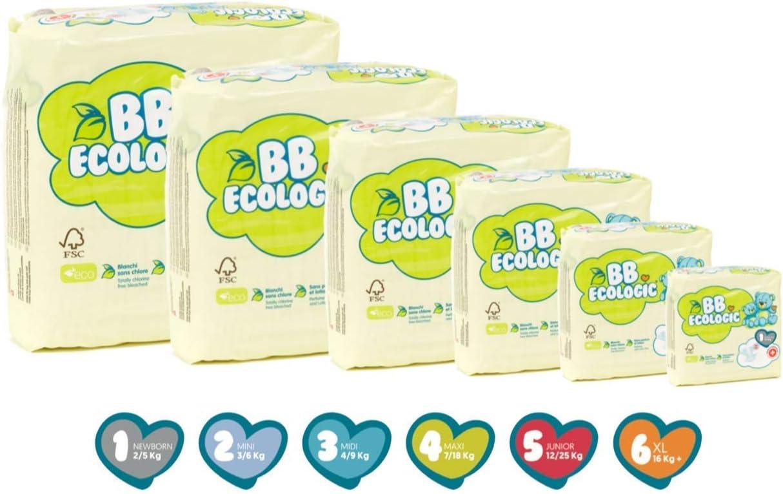 BB Ecologic Couche Bébé 12 à 25 Kg/Taille 5: Amazon.fr: Bébés & Puériculture