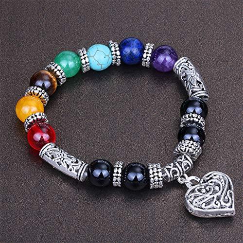 Brooch Men Women 8mm Lava Chakra Double Beads Elastic Natural Stone Agate Bracelet Woman Jewelry Clearance