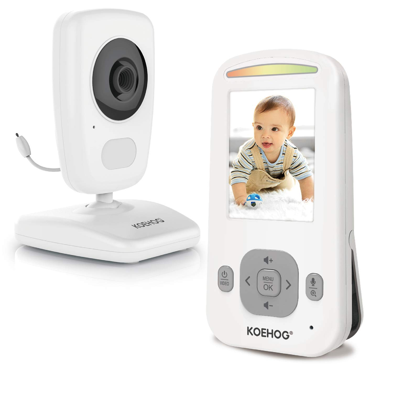 Baby Monitor w/Spectacular Vertical Screen, Slim-Designed Handheld, Extra Long Range, Secure Wireless Technology, Camera Built-in Auto Night Vision, Temperature Alert