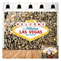 Welcome to Las Vegas Photo Background Fabulous Casino Poker Movie Themed Photography Backdrops 5x3ft Vintage Costume Dress-up Birthday Prom Ceremony Baby Shower Banner Supplies Props Vinyl by Fanghui