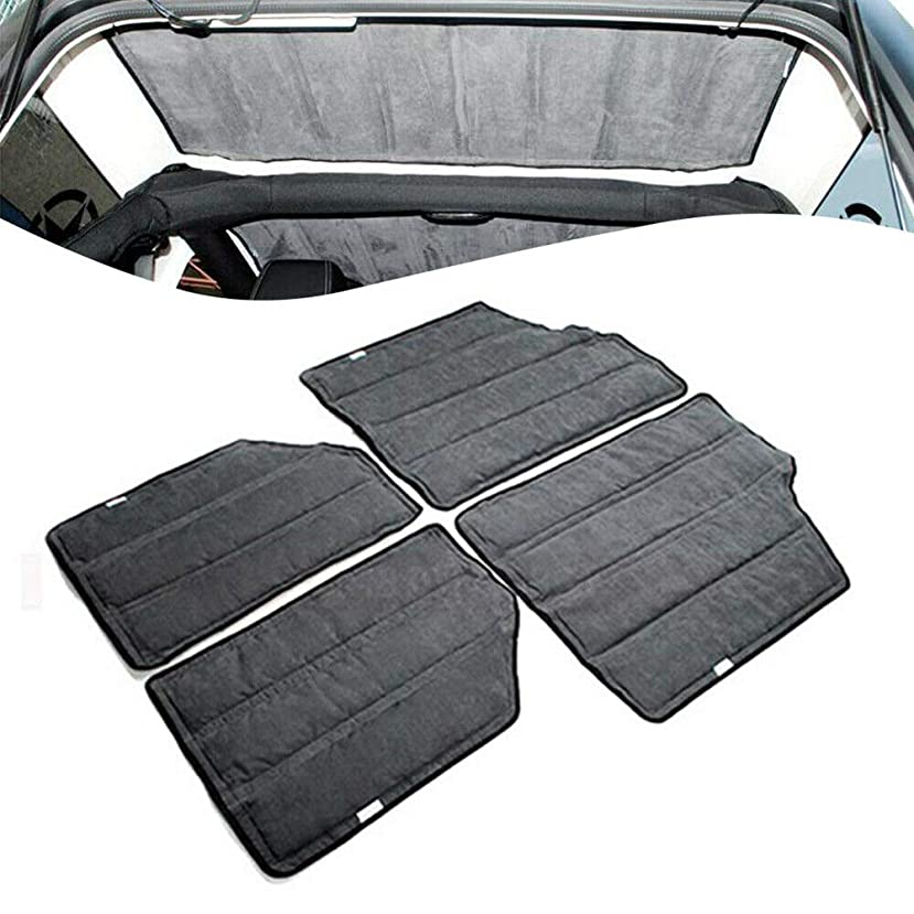 US DELIVER Auto Car Sound Insulation for Jeep Wrangler JK 4 Doors Hardtop Insulation Kit axyzlha165446