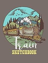 Train Sketchbook: Blank Softcover Sketchbook 8.5