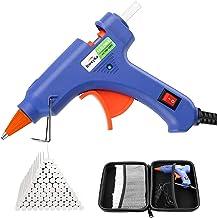 Dweyka Pistolet à Colle Chaude 75pcs Bâtons Chauffrage Rapide et Sûr Pistolet à Colle 20W, y compris un sac à outils, Anti...