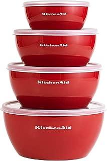 KitchenAid 经典系列备用碗(红色,一套 4 个)