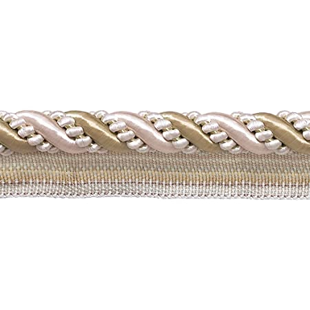 4363 D/ÉCOPRO Medium Taupe Sold by The Yard Black 4//16 inch Imperial II Lip Cord Style# 0416I2 Midnight Meadow