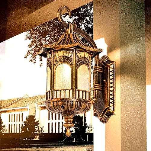 PLL Europese outdoor wandlamp voor tuin en buiten, waterdichte balkon-wandlamp, creatieve retro trap, wandlamp