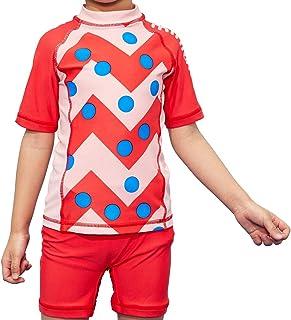 miniatree Girls Swimsuit Two Piece Toddler Rash Guard Swimwear Kids SunsuitBathing Suit UPF 50+ UV