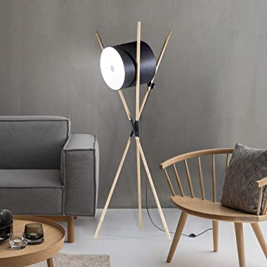 YMLSD Floor Lights,Standing Light Vertical Lamps Lights Modern Light Wooden Stand Led Floor Lamps Novelty Niture Decorative F