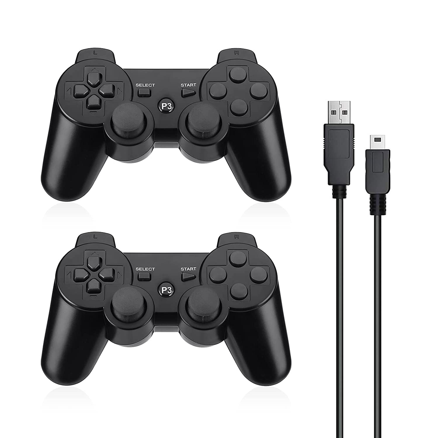In stock Powerextra Large discharge sale Wireless Controller Compatible with 2 High Pack PS-3