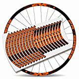 Kit Pegatinas Bicicleta Stickers LLANTA Rim Progress EVO 29' MTB BTT B (Naranja)