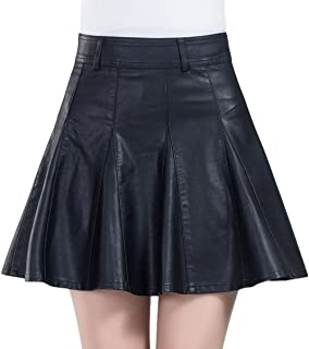 faux leather skirt with zipper