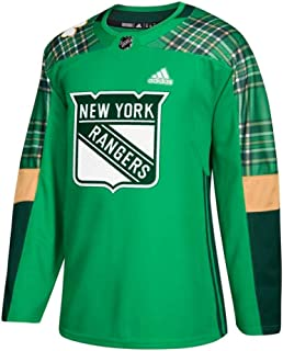 adidas New York Rangers NHL Men's Green St. Patrick's Day Authentic Practice Jersey