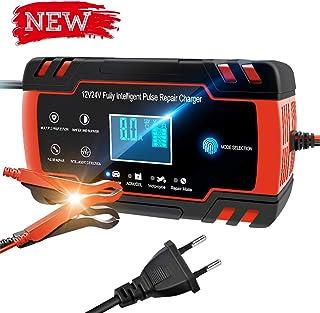 Directtyteam Chargeur de Batterie Intelligent Portable 8A 12V/4A 24V LCD Écran avec..