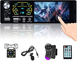 "$53 » Single Din Bluetooth Car Stereo 4.1"" Touchscreen Radio FM Receiver with Dual USB AUX-in SD Card Subwoofer Output Support S..."