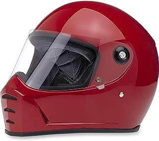 Biltwell Lane Splitter Solid Full-face Motorcycle Helmet - Gloss Blood Red/Large