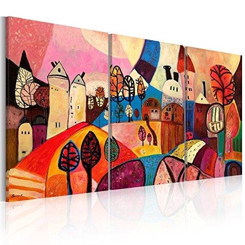 Impression sur toile 120x60 cm - 3 pieces - Image sur toile - Images - Photo - Tableau - motif moderne - Décoration - tendu sur chassis - abstraction abstrait 5711 120x60 cm B&D XXL