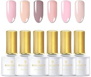 BORN PRETTY Gel Nail Polish Set - Pure Nature Series Popular 6 Colors Nail Art Soak Off LED UV Gel Polish kit 6ml Each