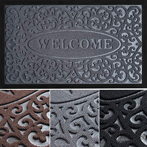 Absorbing Welcome Mat - Welcome Mats for Front Door - Doormat 30x18 - Door Mats for Home Entrance - Outdoor Mat/Indoor Door Mat - Front Door Mat Outdoor - Door Mats for Outside Entry - Entryway Rug
