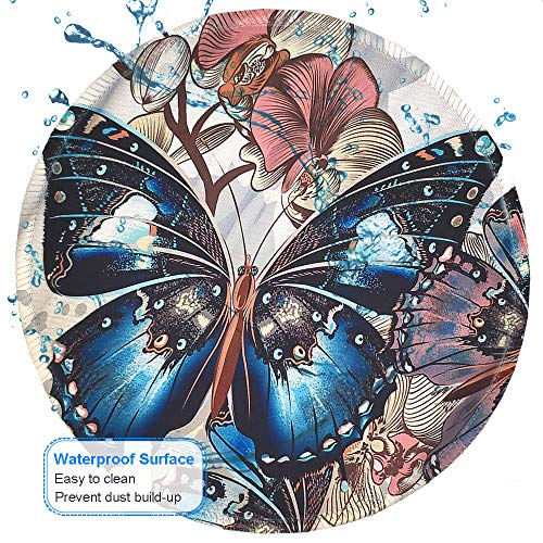 BOSOBO Mouse Pad, Round Butterfly Mouse Mat, Cute Mousepad with Designs, Small Non-Slip Rubber Mouse Pad with Stitched Edges, Customized Mouse Pad for Women Girls Office Computer Laptop Travel Working Photo #7