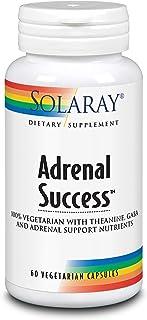 Solaray Adrenal Success | Adaptógenos Herbarios + GABA & L-Theanine para un apoyo saludable al estrés |Sin Gluten | Apto Para Veganos | 60 VegCaps