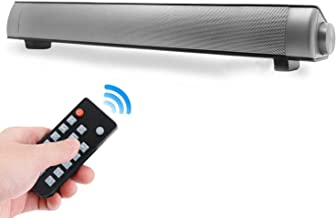 Sound Bars for TV, 16-Inch Soundbar for TV with Bluetooth and Wired Connections, Mini Home Theater Surround Sounbar with Remote Control for TV PC Phones Tablets