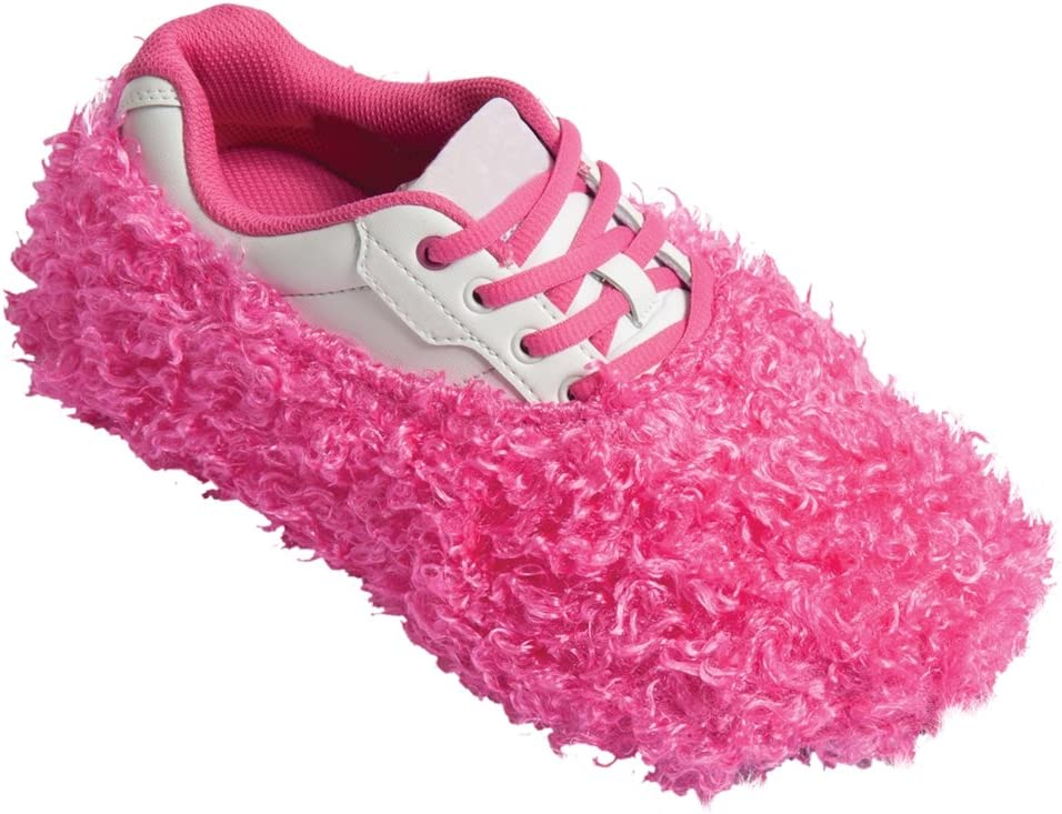One Size Pink Fuzzy Bowling Shoe Covers - Free Shipping!! Robby/'s 1 Pair