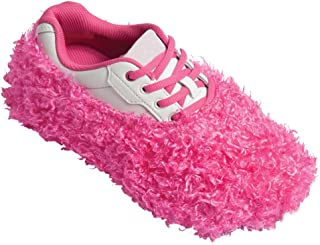 pink fuzzy bowling shoe covers