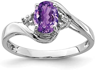 925 Sterling Silver Diamond Purple Amethyst Oval Band Ring Gemstone Fine Jewelry For Women Gift Set