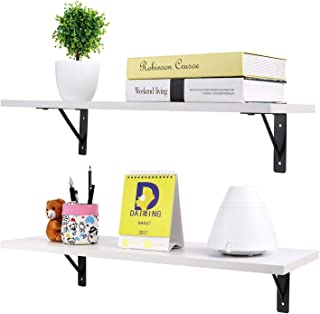 Cypress Shop Floating Wall Mounted Ledge Shelf Storage Panels Open Display Shelving Unit Decor Racks Photo Books Trinkets Pictures Toys Holder Home Decor Home Furniture White Color