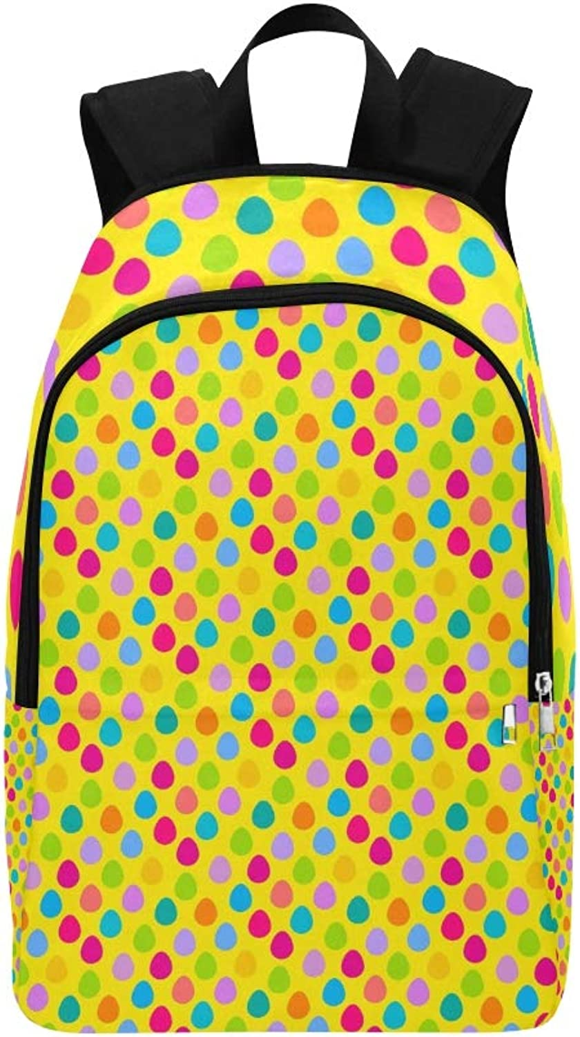 Easter Egg Hunt Yellow Casual Daypack Travel Bag College School Backpack for Mens and Women