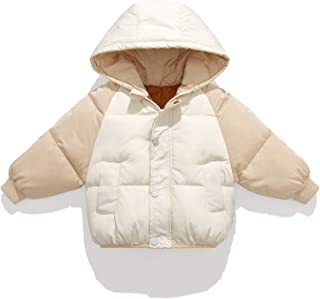BOJIN Boys Girls Winter Hooded Down Jacket for Kids Cotton Coats Padded Thicken Warm Outerwear Puffer
