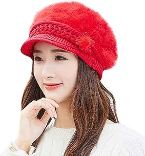 DaySeventh Fashion Womens Flower Knit Crochet Beanie Hat Winter Warm Cap Beret