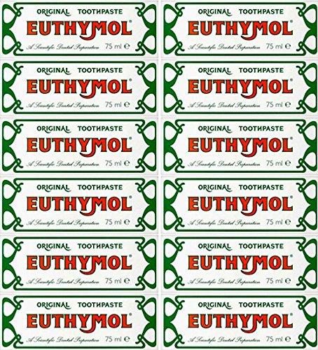 24 Packungen mit Euthymol Zahnpasta 75ml