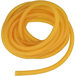 Nydotd Natural Latex Rubber Band, 1.64ft / 5m, 6x9mm Rubber Tube Tubing for Slingshot Catapult Elastic Parts Rocket Outdoo...