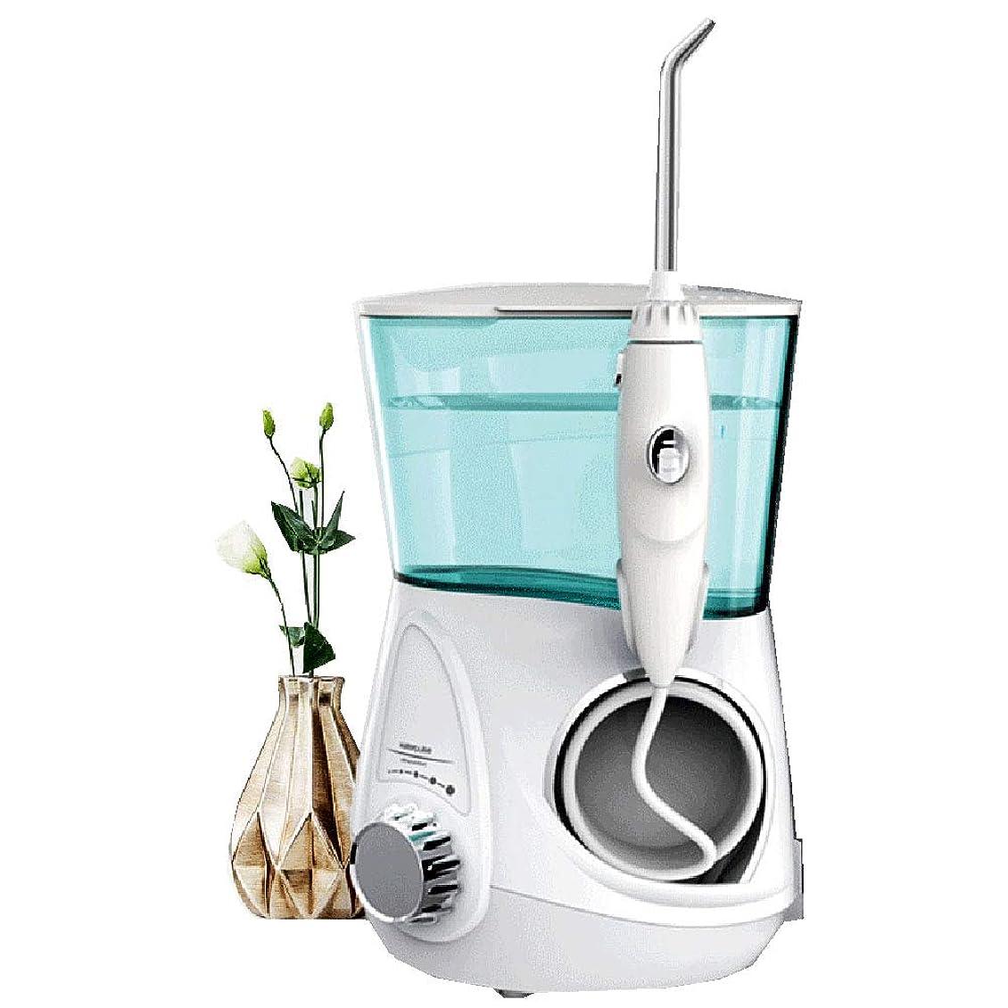 意欲美容師製造電気の 歯科用 カウンタートップ 口腔洗浄器 歯のために ウォーターフロス マッサージ機能付き 7交換可能 ブレース用ノズル