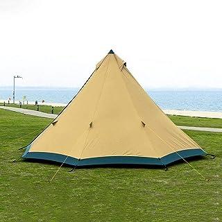 XBSXP Stort utrymme pyramid Tipi-tält för 4–6 personer vattentätt vindtätt campingtält med snökjol familjetält 210T/40D