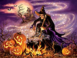BJBJBJ 1000 Pieces of Wooden Puzzles Adult Jigsaw Wooden Jigsaw-Halloween Witch-Children's Art Leisure Games Fun Toy Gifts Suitable for Family Friends