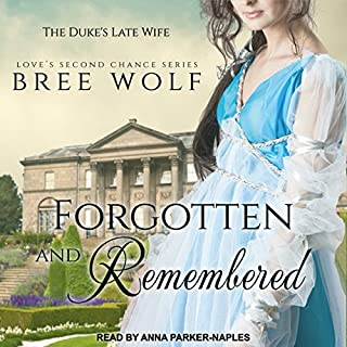 Forgotten & Remembered: The Duke's Late Wife     Love's Second Chance, Book 1              By:                                                                                                                                 Bree Wolf                               Narrated by:                                                                                                                                 Anna Parker-Naples                      Length: 10 hrs and 6 mins     2 ratings     Overall 4.0