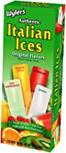 Wyler's Authentic Italian Ice, Fat Free Freezer Bars, Original Flavors (12 Boxes, 6 - 2 oz bars per box)
