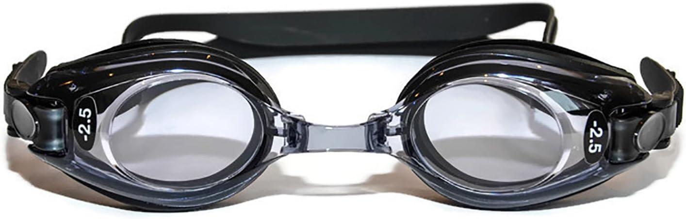 Sports Vision's Gafas Natacion Graduadas Adulto Negras Graduacion Positiva y Negativa Filtro UV