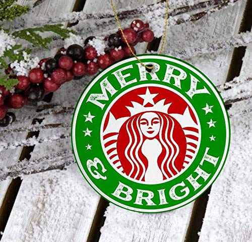 MugMerry and Bright Starbucks Coffee Ornament Merry Christmas Starbucks Starbucks Lover GiftsMerry and Bright Ornament Gift