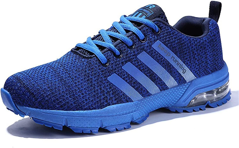 Qiusa Herren Atmungsaktive Laufschuhe Laufschuhe Weiche Sohle Rutschfeste Durable Comfort Trainer (Farbe   Blau, Größe   EU 41)  gemütlich