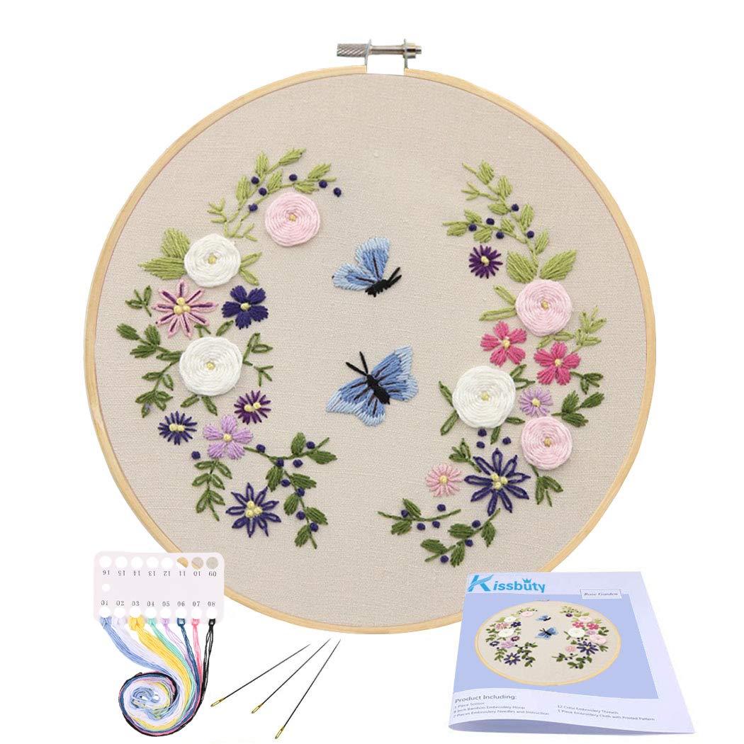 Embroidery Starter Kissbuty Including Butterfly