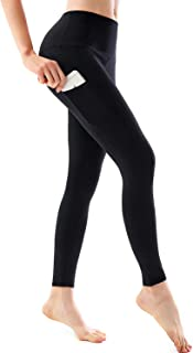 Women's High Waist Yoga Pants Out/Hidden Pocket Tummy Control Workout Butt Lift Tights 4 Way Stretch Yoga Leggings