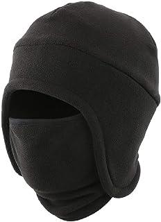 LLmoway Men's Warm 2 in 1 Hat Winter Fleece Earflap Skull Sports Beanie Ski Mask