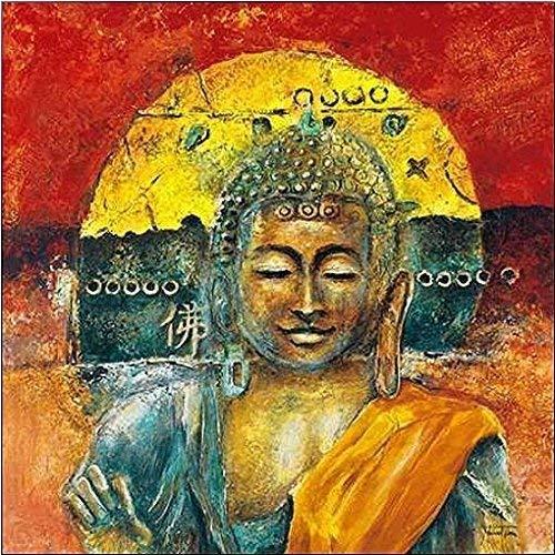Rahmen-Kunst Keilrahmen-Bild - Michael Tarin: A Buddha Chillout Leinwandbild Friede Zen Feng-Shui Asia-Style (50x50)