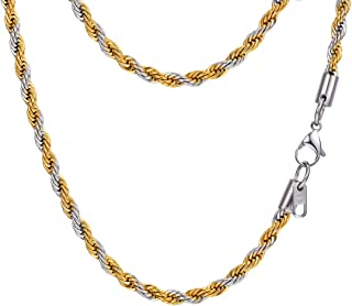 two tone rope chain