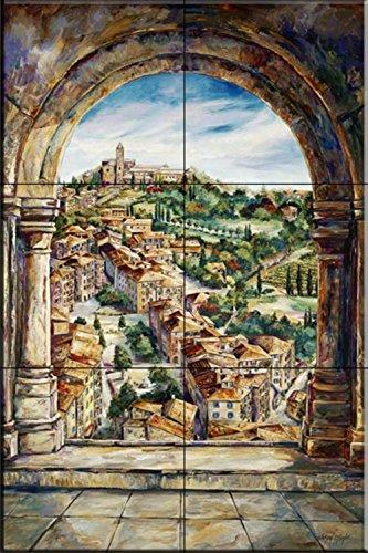 Mural pintado - Dalla Torre - por Karen Stene - salpicaduras de la cocina/baño de ducha