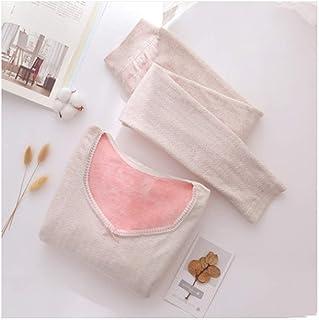 Lingerie Sets Thermal underwear women thickening plus velvet self-heating base body fashion inner wear suit winter Winter ...